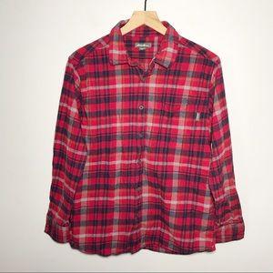 Eddie Bauer Plaid Flannel Button Shirt Size L